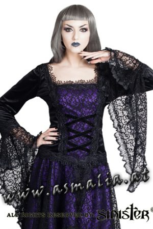Sinister mittelalterliches Langarm Top lila 981 Asmalia Gothic Shop