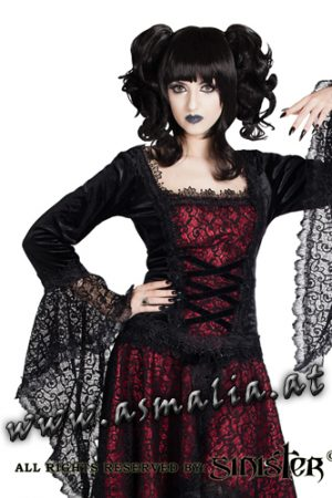 Sinister mittelalterliches Langarm Top rot981 Asmalia Gothic Shop