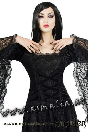 Sinister mittelalterliches Langarm Top schwarz 981 Asmalia Gothic Shop