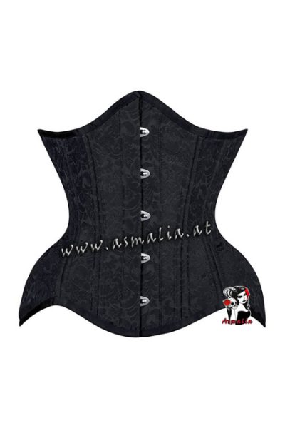 Unterbrust Curvy Korsett schwarz Brokat 19137