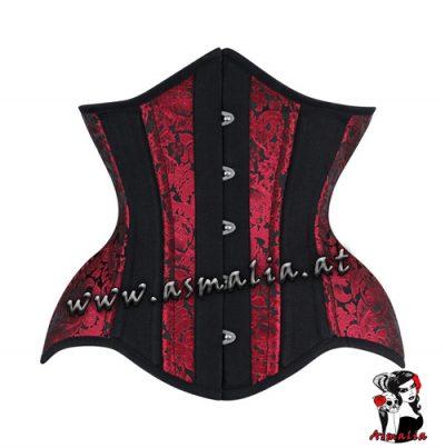Rot schwarz Curvy Unterbrust Korsett
