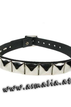Pyramidennieten Halsband Leder HB003