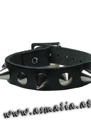 Spitz- und Kegelnieten Armband Leder AB678