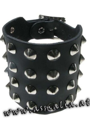 Spitznieten Armband 4-reihig Leder AB004