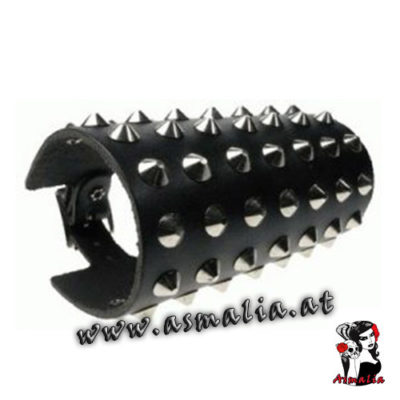 Spitznieten Armband 7-reihig Leder AB006