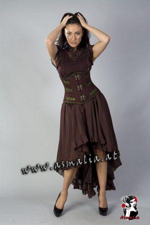 Elizium Rock braun Chiffon von Burleska im Gothic Shop Asmalia