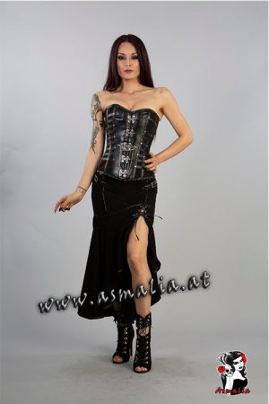 temtress Skirt Rock schwarz von Burleska im Gothic Shop Asmalia - Wien