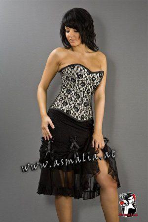 Vanity Skirt Rock knielang schwarz von Burleska im Gothic Shop Asmalia - Wien