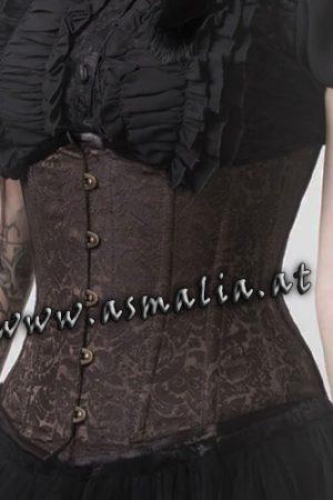 Braun Brokat Unterbrust Korsett Asmalia Gothic Shop