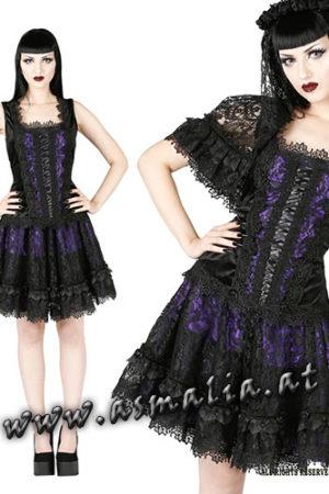 Sinister kurzer Rock violett 1010 im Gothic Shop Asmalia