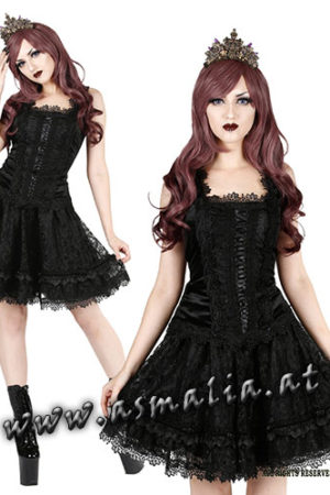 Sinister kurzer Rock schwarz 1010 im Gothic Shop Asmalia