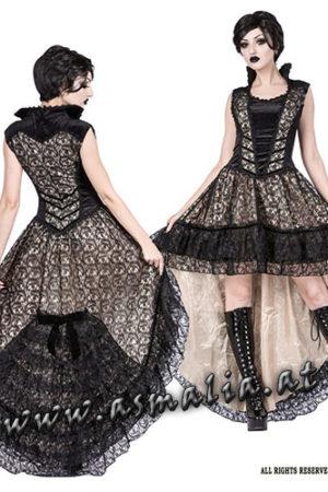Sinister Vokuhila Kleid elfenbein 1093 im Gothic Shop Asmalia