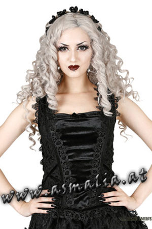 Sinister ärmelloses Samt Top 997 im Gothic Shop Asmalia