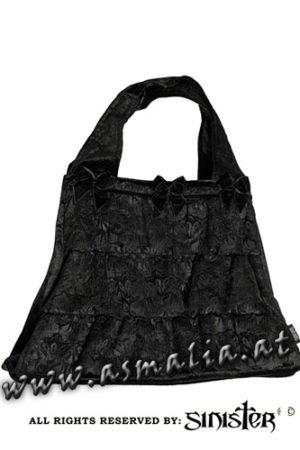 Samttasche schwarz B065 von Sinister im Gothic Shop Asmalia