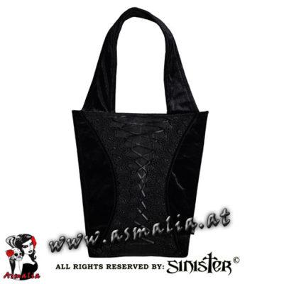 Samttasche schwarz B072 von Sinister im Asmalia Gothic Shop