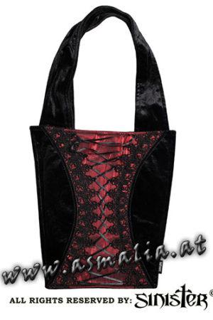 Samttasche rot B072 von Sinister im Asmalia Gothic Shop