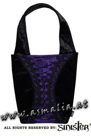 Samttasche violett B072 von Sinister im Asmalia Gothic Shop