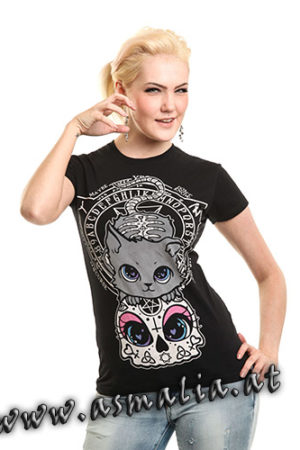 Cat Night Top von Cupcake Cult