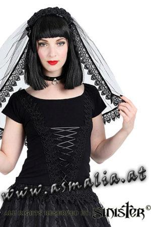 schwarzer Schleier aus Tüll H013 im Gothic Shop Asmalia