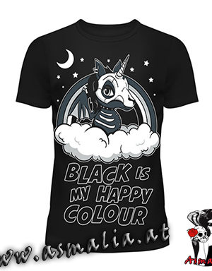 Black Is My Happy Colour Cupcake Cult Asmalia Gothic Shop