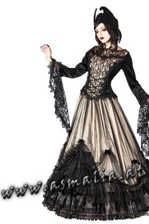 504 - Medieval gothic skirt by Sinister bodenlanger Rock elfenbein im Gothic Shop Asmalia