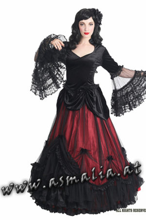 504 - Medieval gothic skirt by Sinister bodenlanger Rock rot im Gothic Shop Asmalia