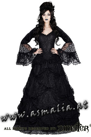 978 - Black Lace medieval gothic skirt by Sinister bodenlanger Rock im Gothic Shop Asmalia